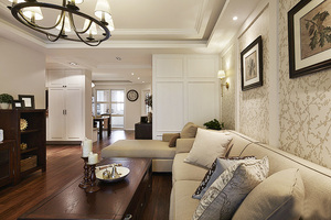 康城国际三居室美式风格装修