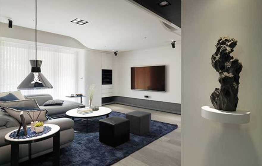白云花园现代简约风格三居装修效果图
