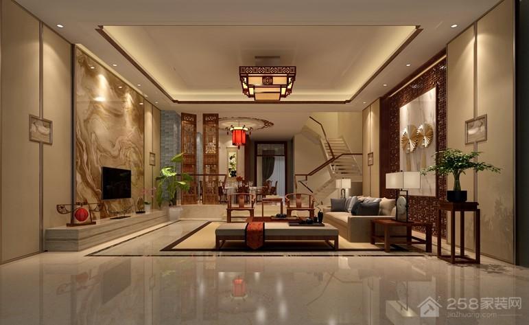 洛社上院中式风格230㎡别墅装修效果图