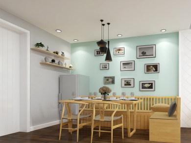北苑家园北欧风格二居室效果图