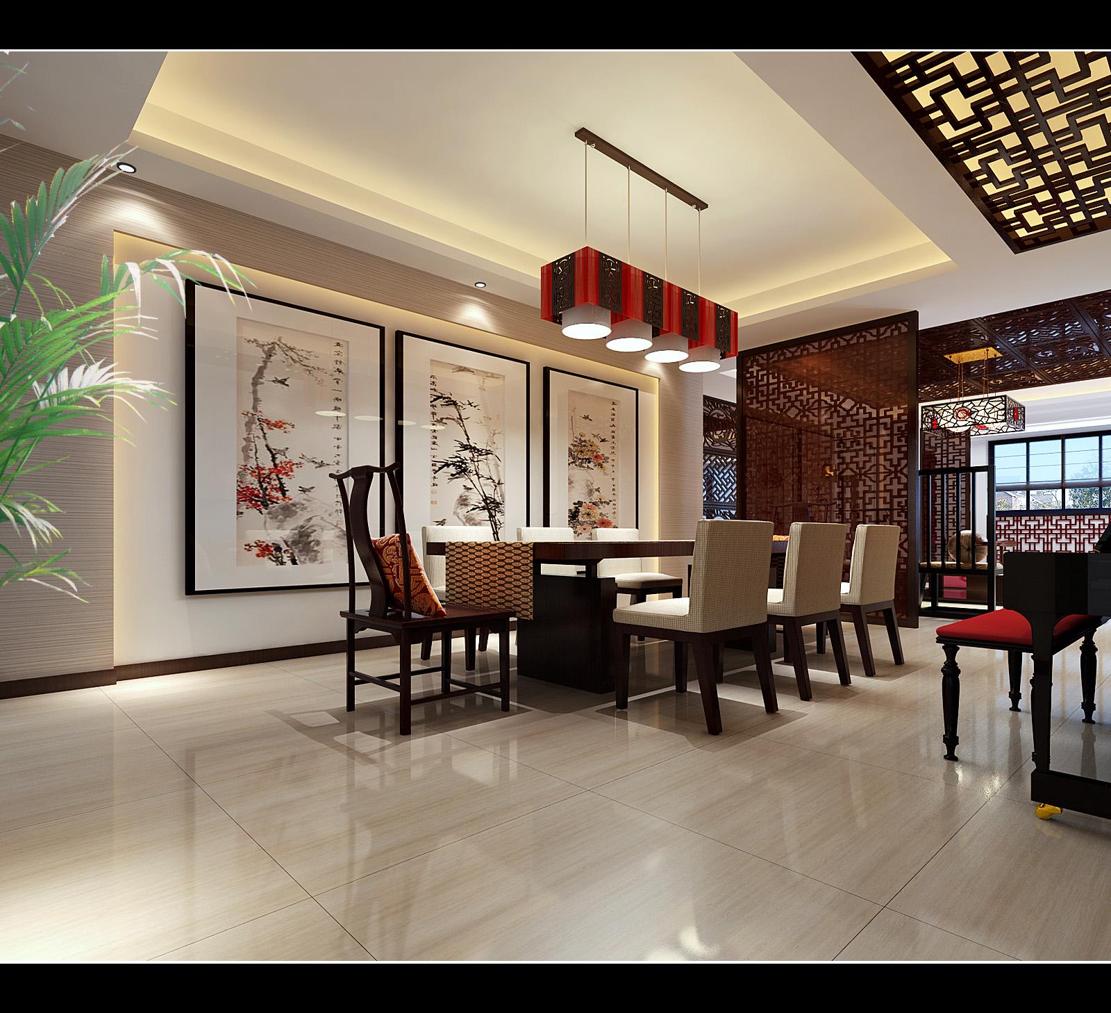 风格城事139㎡中式风格四居室装修