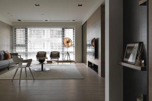 时代玫瑰园现代简约风格三居装修效果图