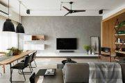 南国奥园北欧风格二居家装效果图