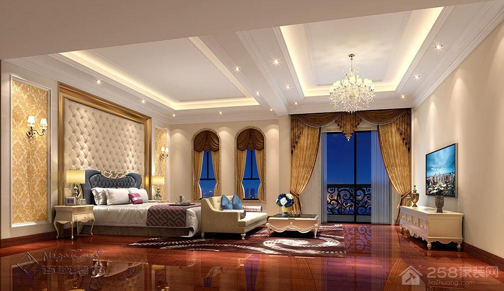 常平誉景名居欧式风格别墅家装效果图
