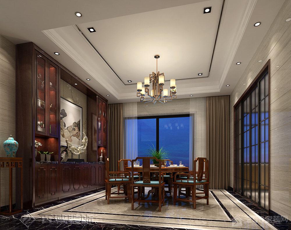 石排自建别墅中式风格别墅家装效果图