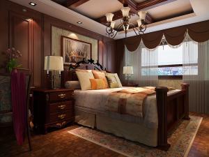 滨湖万达美式风格三居家装效果图
