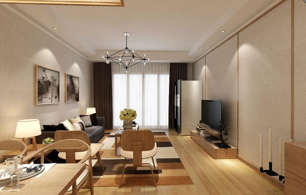 凤凰名城日式风格二居家装效果图