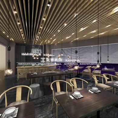 寿司店现代简约风格一居装修效果图