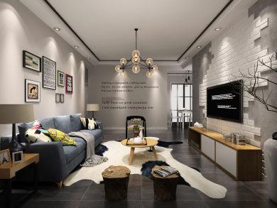 泰禾红悦现代简约风格二居家装效果图