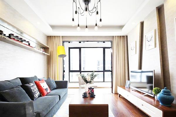 罗曼风情现代简约风格二居装修效果图