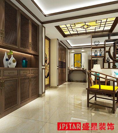 延生小区中式风格三居装修效果图
