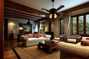 华润橡树湾东南亚风格三居家装效果图