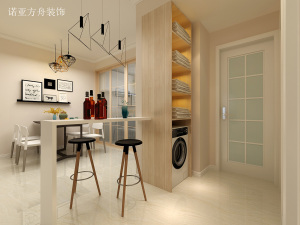 禧瑞都现代简约风格三居装修效果图