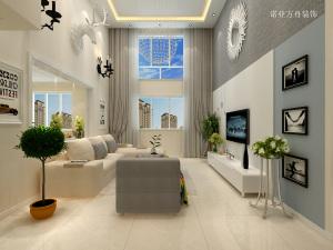 馥式层双现代简约风格三居装修效果图
