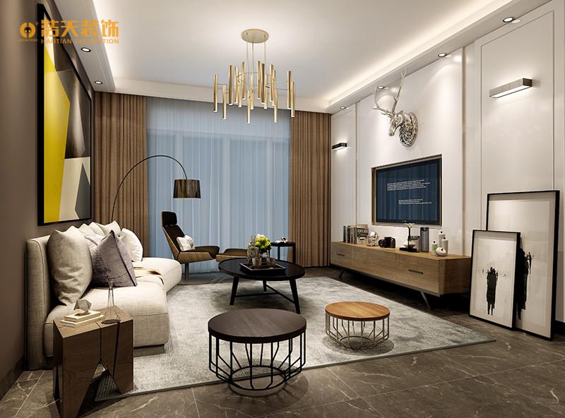 中洲中央公寓现代简约风格四居家装效果图