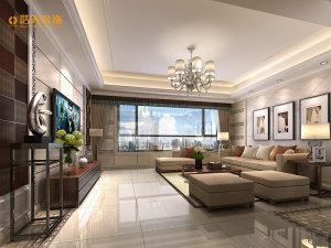 颐安都会中央二期现代简约风格四居家装效果图