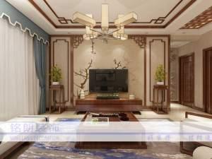 保利香槟国际中式风格三居装修效果图