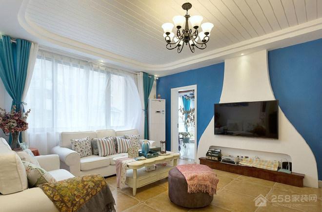 地中海风格三居家装效果图