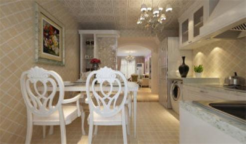 沁园岭秀欧式风格二居家装效果图