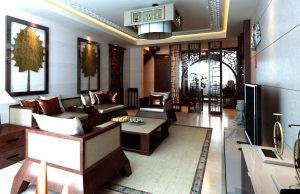 华丽家族中式风格三居装修效果图