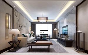 阳光首院中式风格三居装修效果图