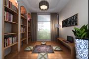 领航城中式风格复式家装效果图