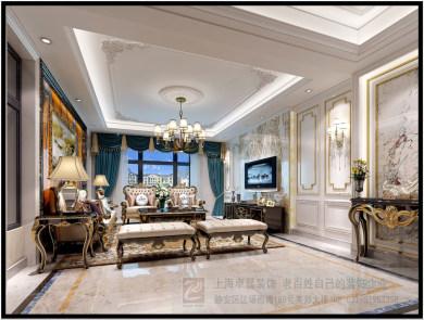 德和沁园欧式风格别墅装修效果图