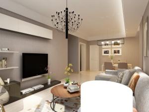 保利香槟国际现代简约风格二居装修效果图