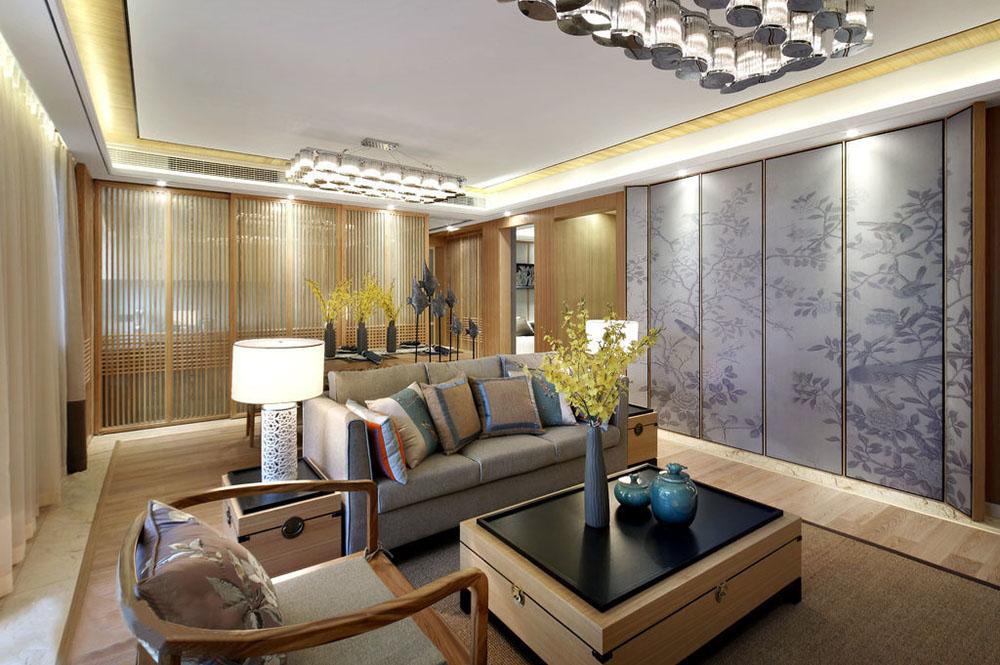 金丰花园中式风格三居家装效果图