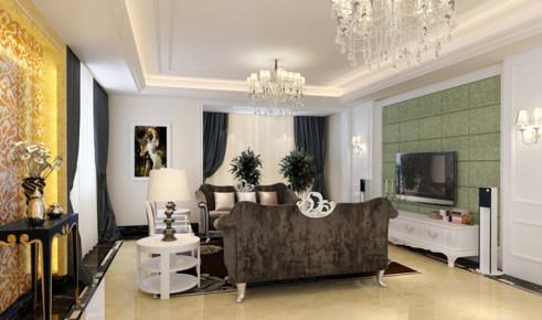 福景名都 欧式风格二居家装效果图