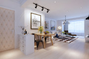 曲江靓丽家园现代简约风格二居家装效果图