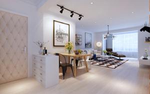 华南新城北欧风格二居家装效果图