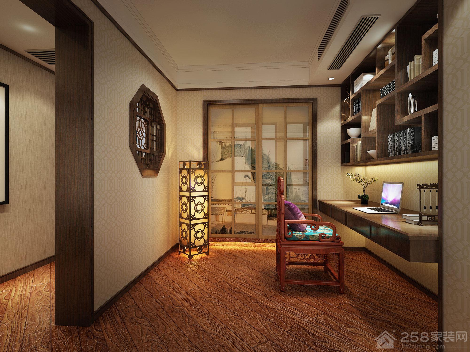 三居室书房书桌书柜组合图片展示