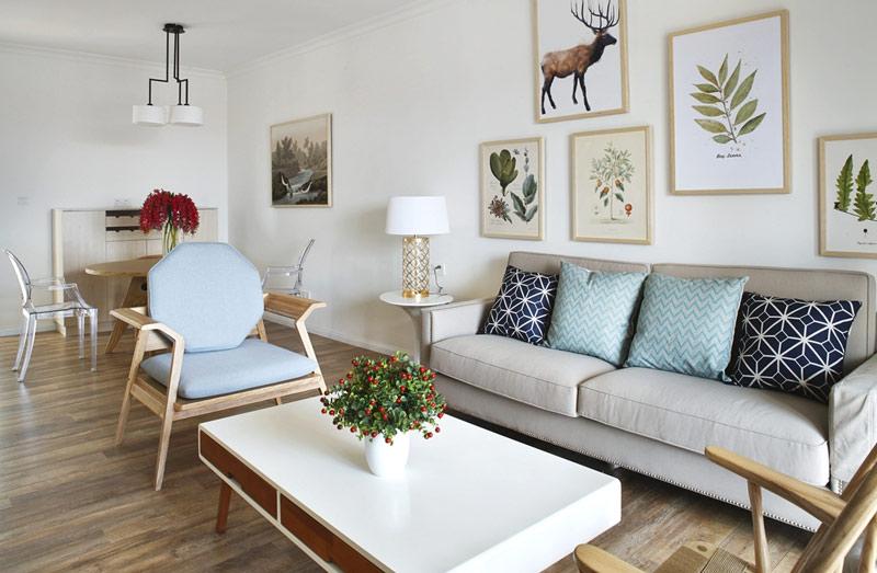 观庭金色世家北欧风格三居装修效果图