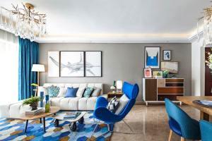 万科蓝山现代简约风格二居家装效果图