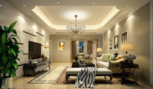 黄金海岸欧式风格三居家装效果图