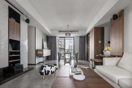 东方国际现代简约风格四居家装效果图