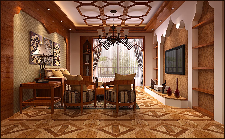 大营坡中大国际东南亚风格四居家装效果图