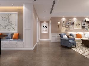 黄海明珠欧式风格三居装修效果图
