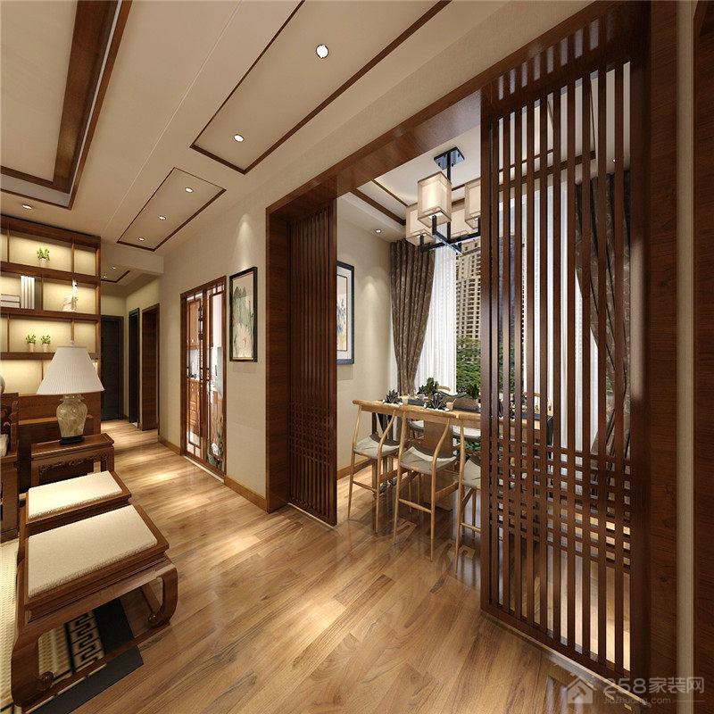 远大美域中式风格三居装修效果图