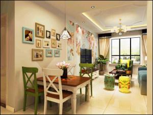 坤泽十里城美式风格二居装修效果图