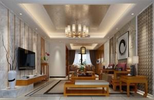 星城翠珑湾中式风格四居家装效果图