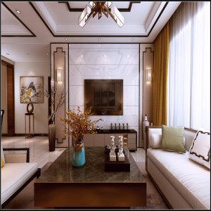百灵尚品一号128㎡中式风格三居家装效果图