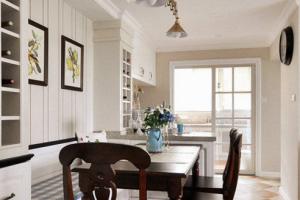 明珠湖畔99㎡美式风格二居家装效果图