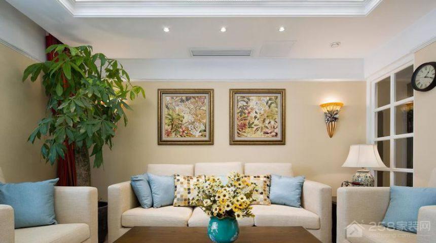 石景山鲁谷小区美式风格三居家装效果图