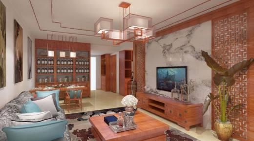 石景苑中式风格二居家装效果图