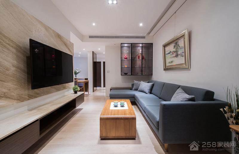现代简约客厅装修转角沙发效果图
