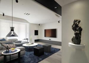 运潭公寓现代简约风格三居家装效果图