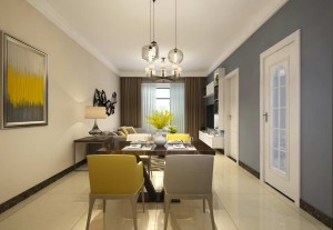 紫藤园现代简约风格二居家装效果图