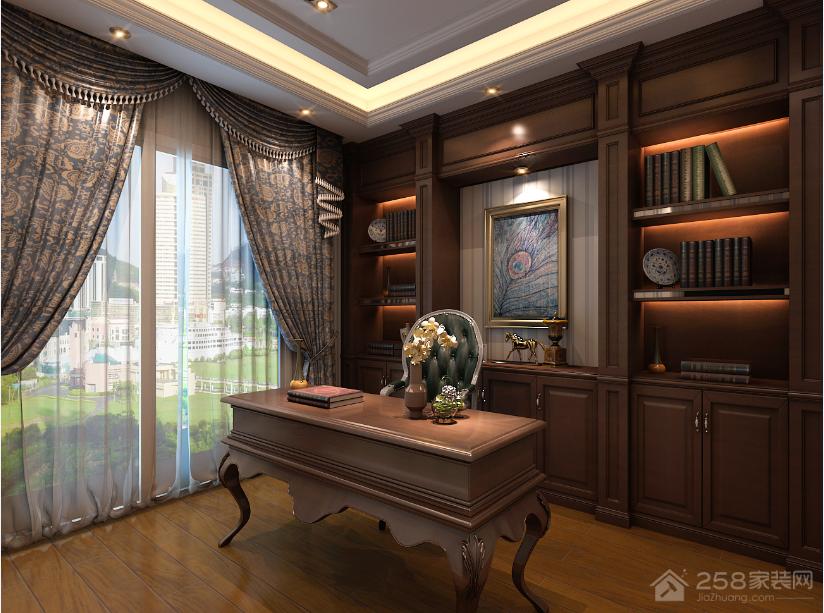 中天会展城新古典风格三居装修效果图